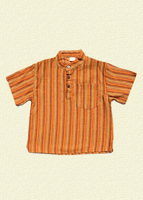 Camisa rayada naranja