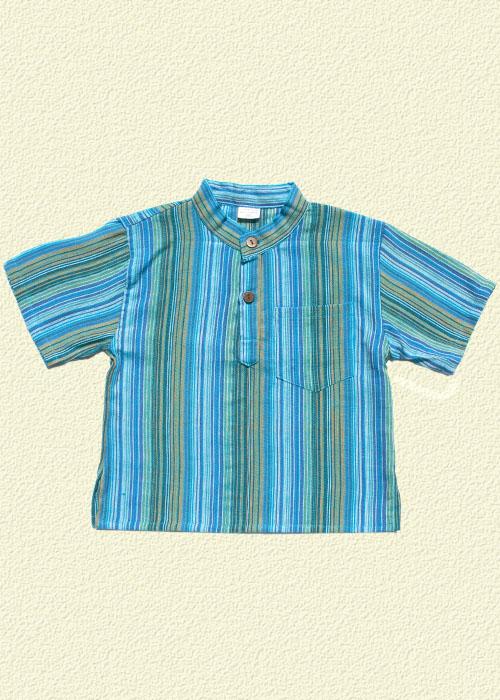 Camisa rayada turquesa
