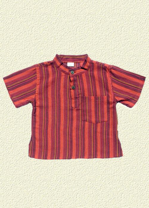 Camisa rayada rojo