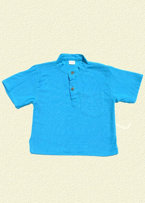 Camisa unida turquesa
