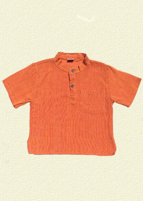 Camisa unida naranja