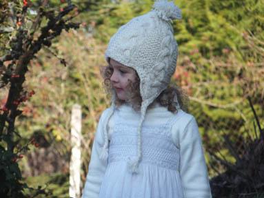 Bonnet enfant pure laine doublé polaire