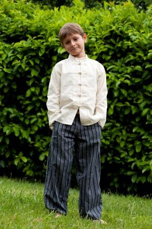 Chinese bottoms shirt and hippy trousers
