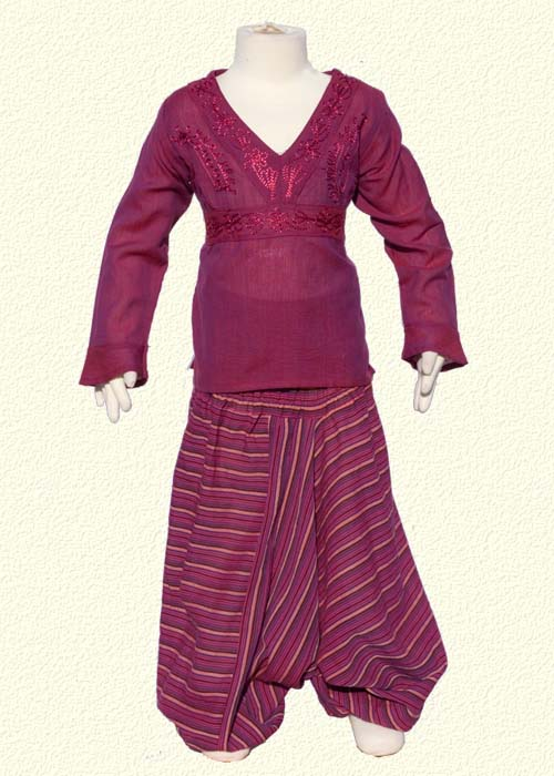 with stripe violet afghan trousers