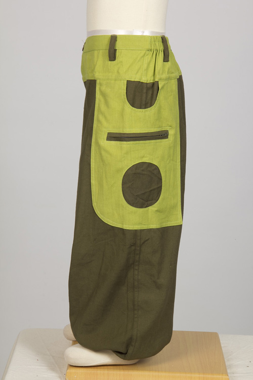 Kid moroccan trousers cottonarmy and lemon