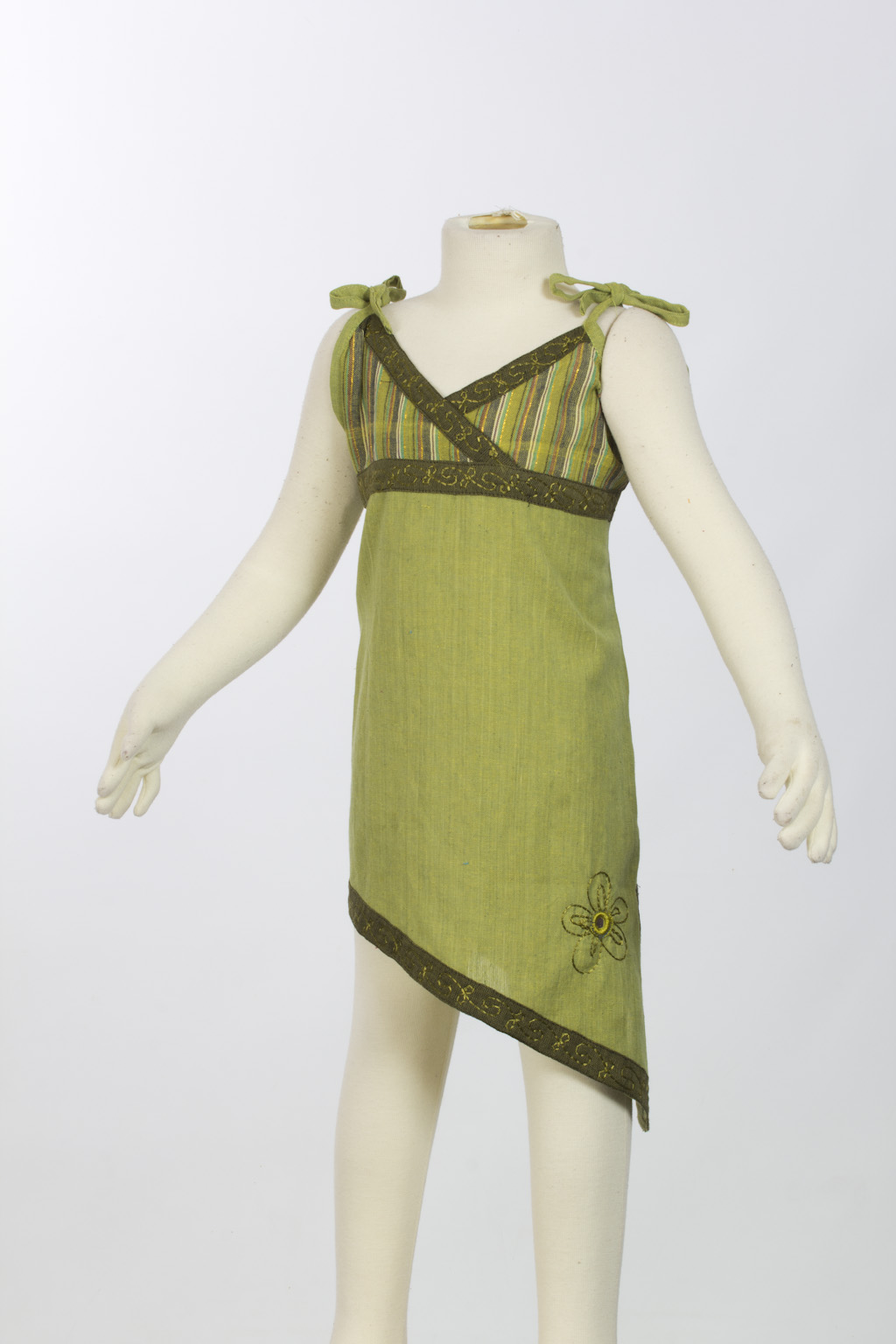 Lemon green asymmetrical tunic