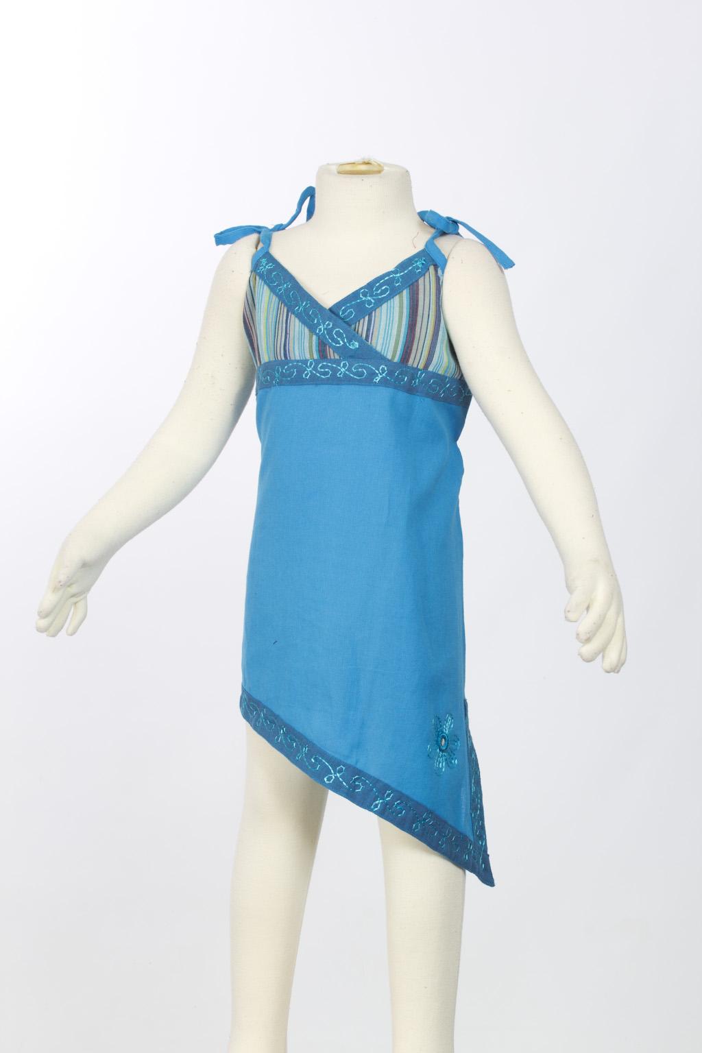 Turquoise asymmetrical tunic
